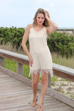 Load image into Gallery viewer, Natural Hanky Hem Lace Dress