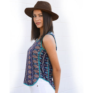 Paisley Tank w/Piping  (bundle)