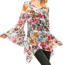 Load image into Gallery viewer, Multi Printed Mesh Tunic