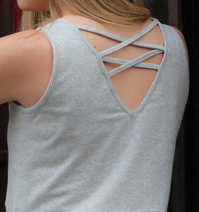 Crisscross Back Dress Gray (bundle)