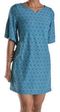 Load image into Gallery viewer, Bell Sleeve Navy/Turq Dress
