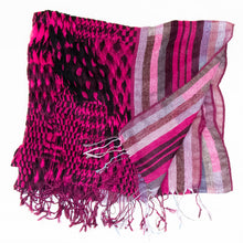 Load image into Gallery viewer, Fuchsia Houndstooth Scarf