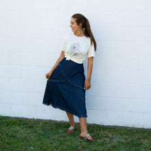 Load image into Gallery viewer, Fringed Denim Skirt