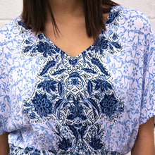 Load image into Gallery viewer, Kimono Sleeve V-Neck W/ Smocking