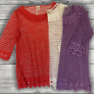 Crochet Mesh Tunic Curvy (bundle)