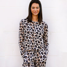 Load image into Gallery viewer, Cheetah Super Soft Fleece Crew Neck Top/Pant Set Bundle