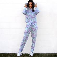 Load image into Gallery viewer, Retro Tie Dye Super Soft Fleece Hoodie/Pant Set (bundle)