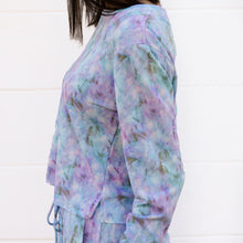 Load image into Gallery viewer, Retro Tie Dye Super Soft Fleece Crew Neck Top/Pant Set