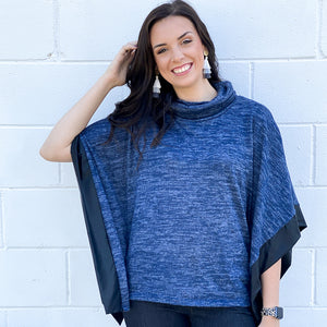 Cowl Poncho w/ Liquid Leather Trim (bundle)