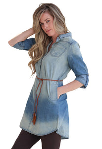 Tie Dye Denim Dress