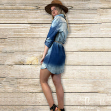 Load image into Gallery viewer, Tie Dye Denim Dress