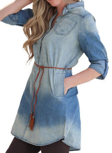 Load image into Gallery viewer, Tie Dye Denim Dress (bundle)