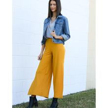 Ribbed Knit Wide Leg Pant w/ Side Slit - Curvy (bundle)