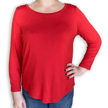 Load image into Gallery viewer, 3/4 Sleeve Scoop Neck Whisper Tee w/ Shirttail Bottom (bundle)