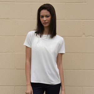 S/S Solid T-shirt w/ Knot at Neck Detail (bundle)