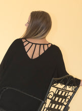 Load image into Gallery viewer, Black Lattice Back Piko Tunic