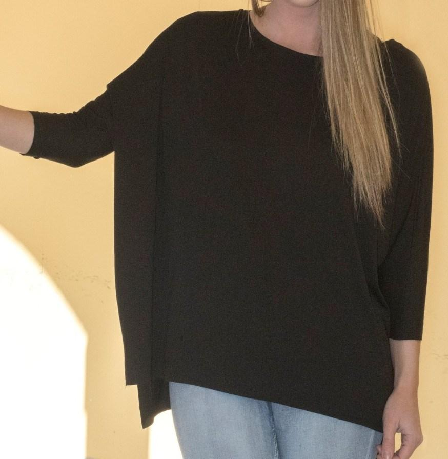 Black Lattice Back Piko Tunic