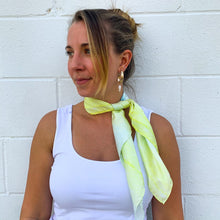 Load image into Gallery viewer, Kiley Aqua Silk Bandana