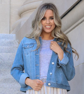 Light Wash Denim Jacket  (bundle)