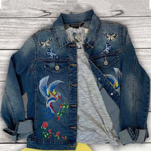 Load image into Gallery viewer, Hummingbird Denim Jacket