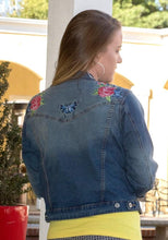 Load image into Gallery viewer, Hummingbird Denim Jean Jacket
