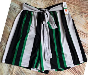 Sash Short Blk/Wht/Green (bundle)