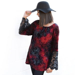 Berry Velvet Lace Tunic