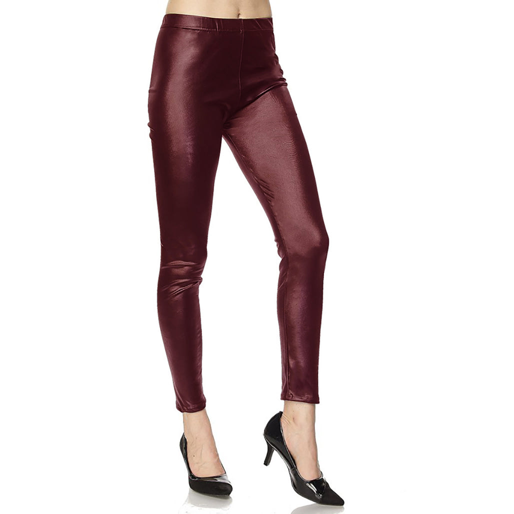 Faux Leather Skinny Ankle Legging