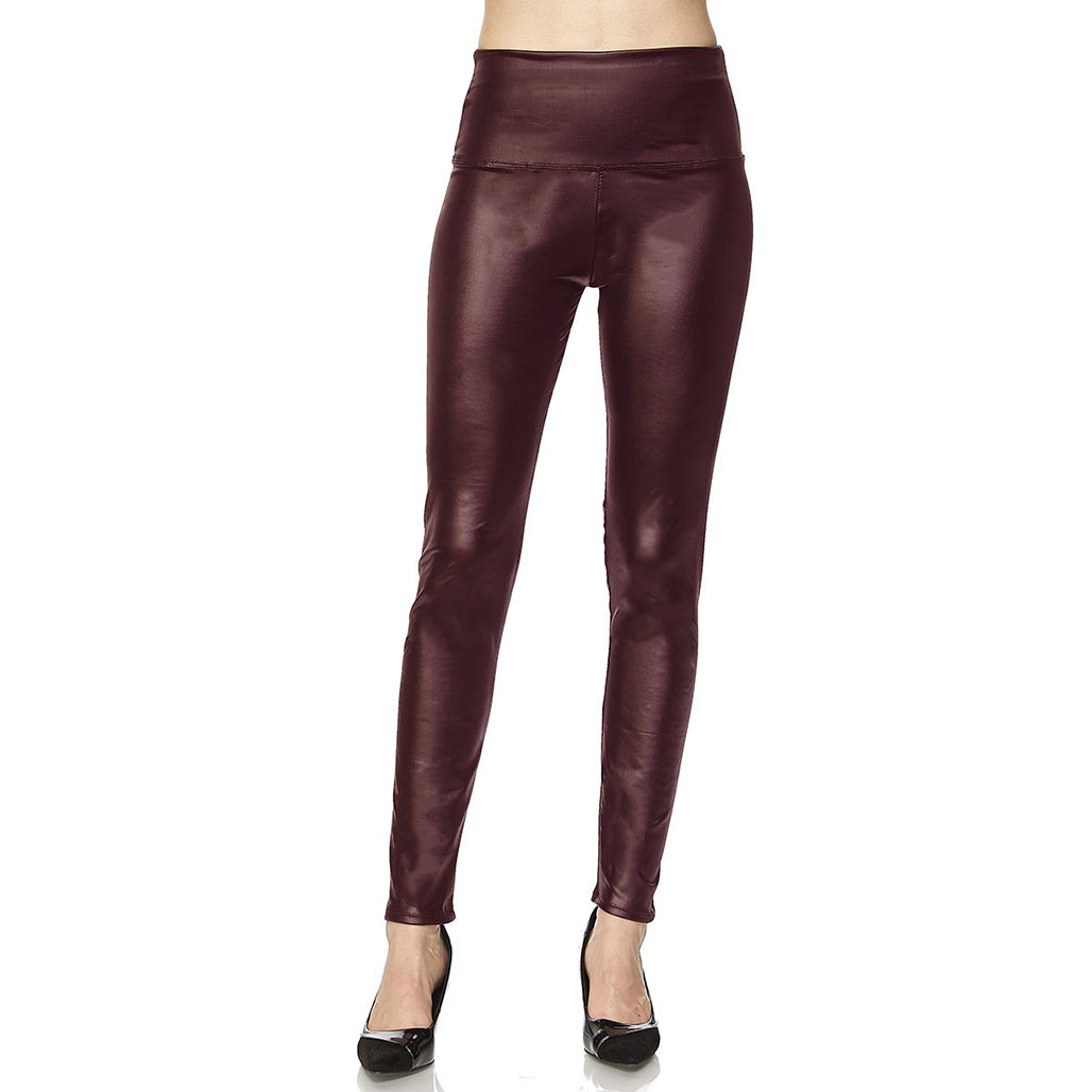 Faux Leather High Waisted Skinny Ankle Legging