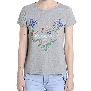 Multi Color Embroidered Love Top