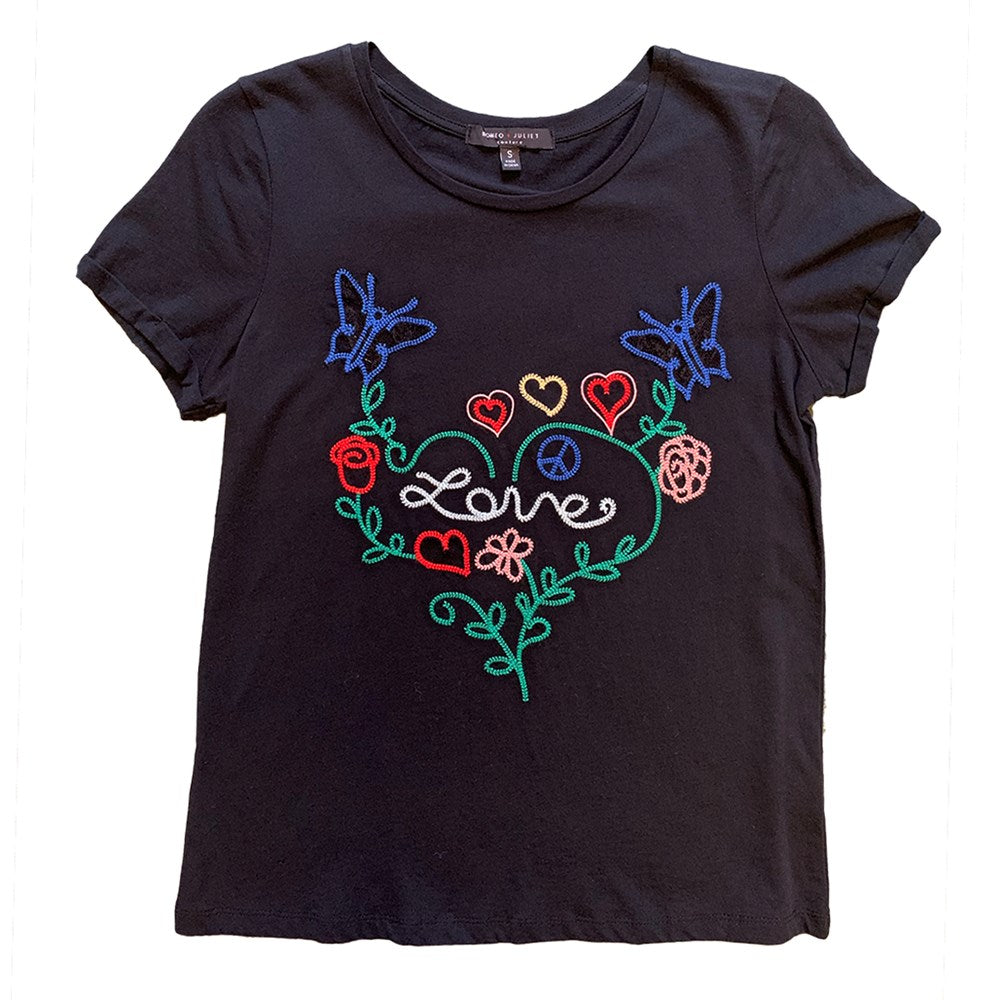 Multi Color Embroidered Love Top (bundle)