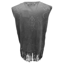 Load image into Gallery viewer, Blk Suede Fluer De Lis Vest