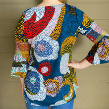 Load image into Gallery viewer, 3/4 Bell Sleeve Top w/ Smocking Detail