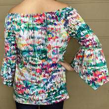 Load image into Gallery viewer, 3/4 Bell Sleeve Peasant Top