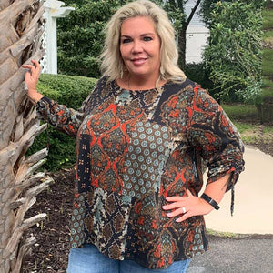 L/S Mixed Media Hacci Tunic Curvy  (bundle)
