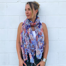 Load image into Gallery viewer, Serafina Floral Scarf with Tassel