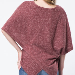 Half Sleeve Assymetrical Layered Top