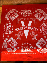 Load image into Gallery viewer, Volker's Bakery / Park City Farmer's Market Bandana (facemask)