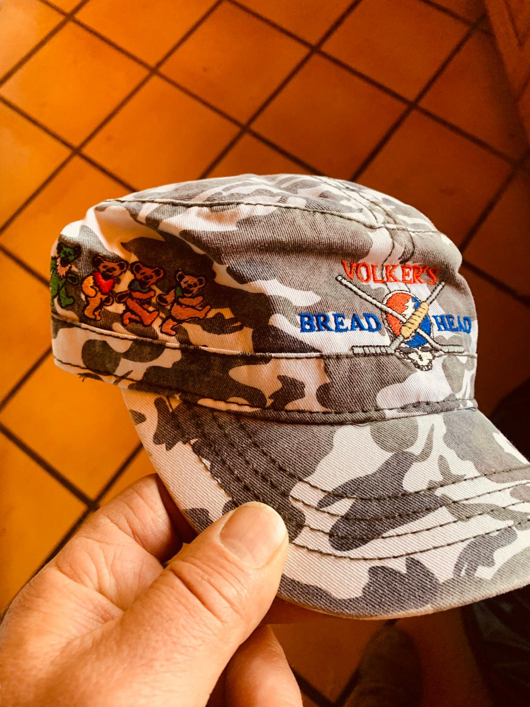 Volker's Bakery Camo Grateful Breadheads Logo Ballcap (One Size Fits All)