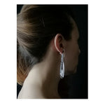 Load image into Gallery viewer, Amadea post & drop earrings Neon Blue