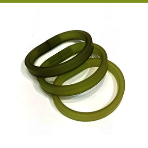 Drim Trio set of 3 rubber bracelets in 8 colors