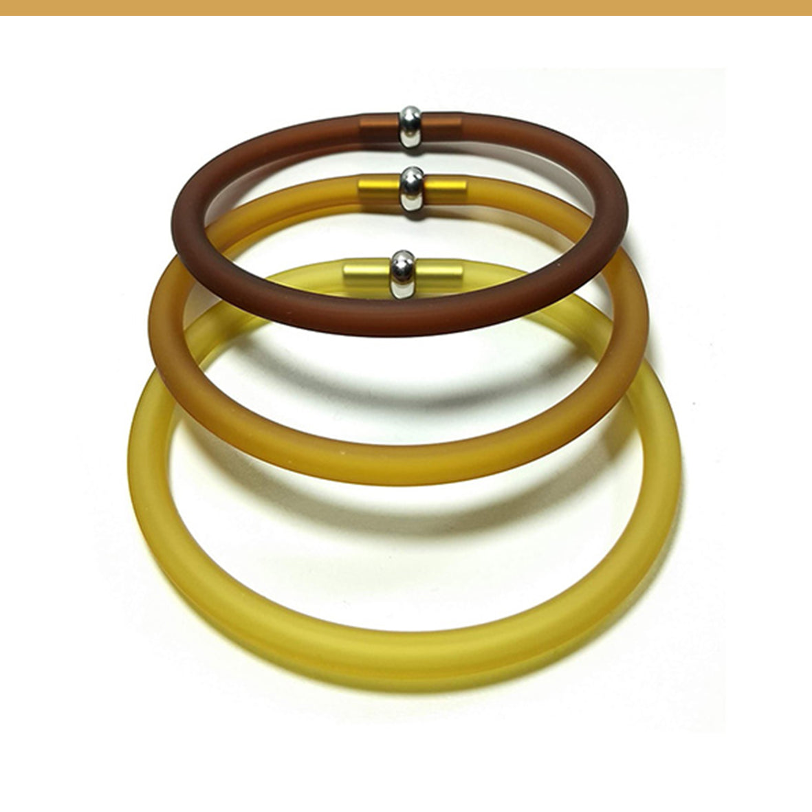 Safari Trio set of 3 rubber bracelets in 9 colors