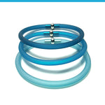 Load image into Gallery viewer, Safari Trio set of 3 rubber bracelets in 9 colors