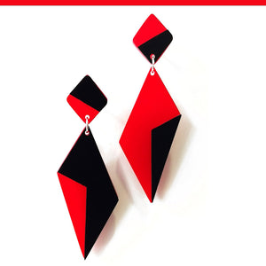 Audrey post & drop earrings Red