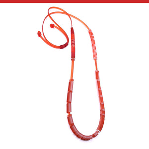 Domino long necklace in 10 colors