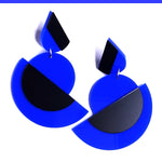Load image into Gallery viewer, Suzan post & drop earrings Blue
