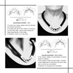 Load image into Gallery viewer, Joyce choker Black and White