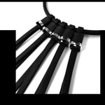 "Load image into Gallery viewer, Tenerife ""feather"" necklace Black Crystal"