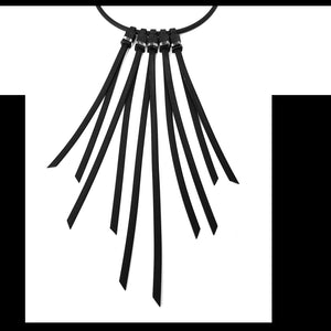 "Tenerife ""feather"" necklace Black Crystal"