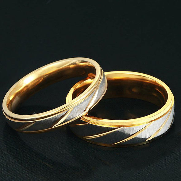 Gold Plated Couple Ring - OhioGem